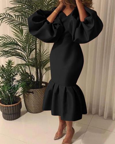 Slim Plus Size Women's Evening Dress