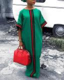 Stitching Plus Size Loose Dress