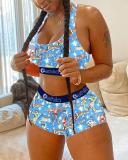 Sexy Fashion Vest Shorts Two-piece Suits