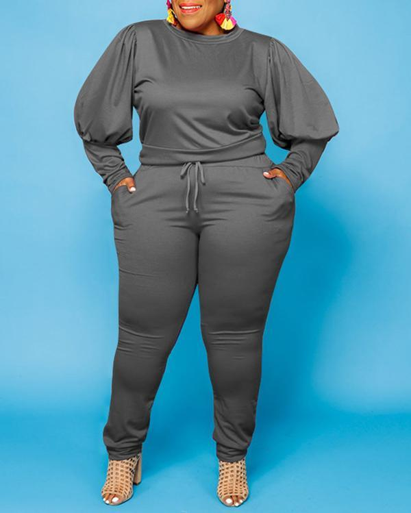 Fashion Casual Plus Size Two-piece Suit