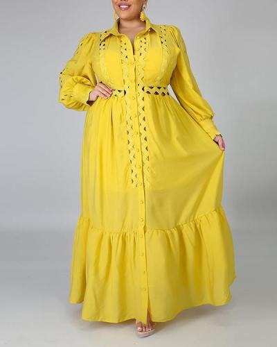 Solid Color Plus Size Loose Dress
