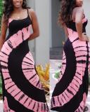 Printed Sling Beach Dress