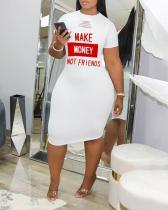 Sexy Fashion Short Sleeve Print Dress