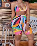 Sexy Printed Multicolor Swimsuit Set