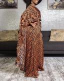 Leopard Print Cape Tops Two Piece Suit