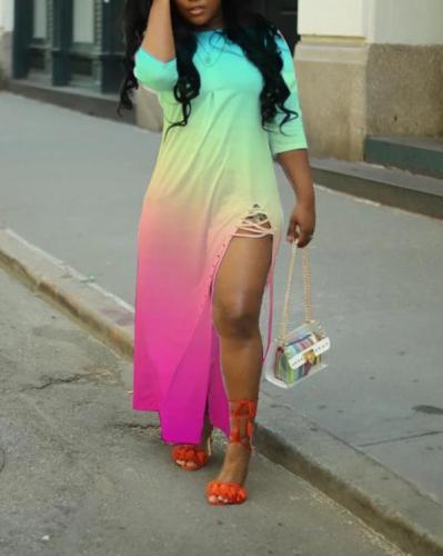 Sexy Split Lace Up Dress