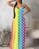 Casual Fashion Rainbow Striped Colorful Dress