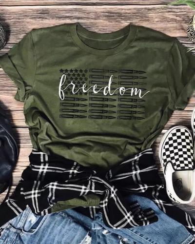 Freedom American Flag T-Shirt Tee american flag