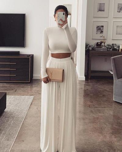 Comfortable And Casual Solid Color Two-Piece Suit