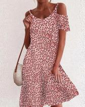 Sexy A-line Cold Shoulder Date Dress