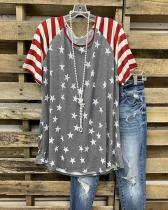 Cotton-Blend Short Sleeve Casual Shift T-Shirts