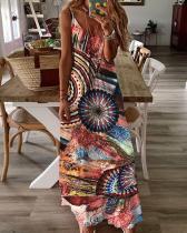 Women's Sexy Abstract Print Summer Dress