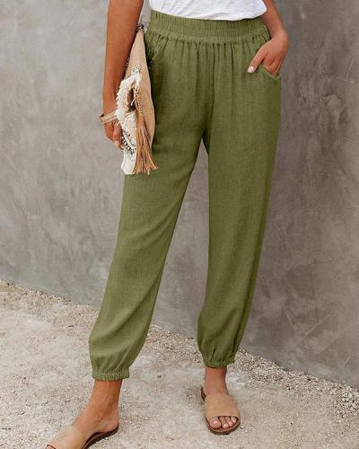 Women's Solid Relaxed Fit Trouser