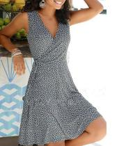 Polka Dot Pullover Women's Dress Short Sleeve A-line Dresses