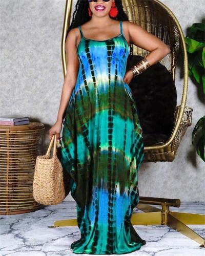 Tie-dye Cami Maxi Dress
