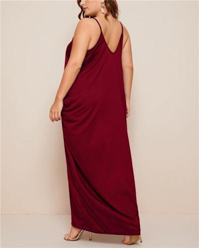 Pockets Slip Maxi Dress