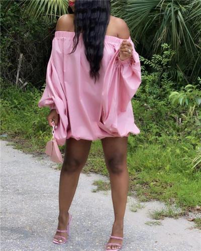 Plus Size Off-Shoulder Parachute Dress