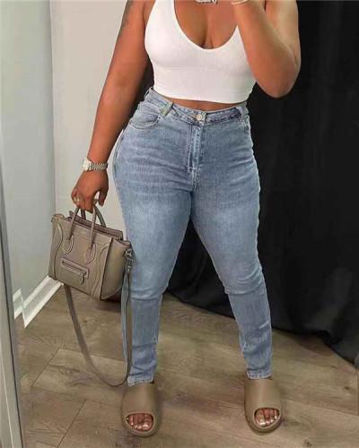 Cutout Back Jeans
