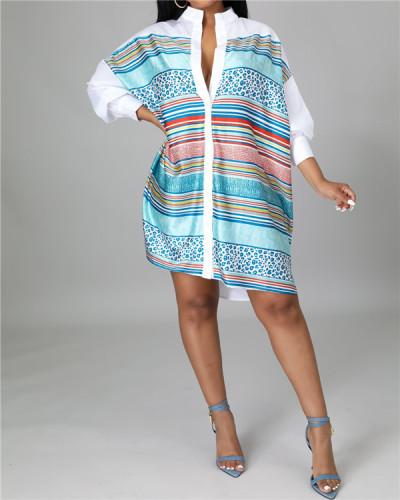 Long sleeve shirt dress for women
