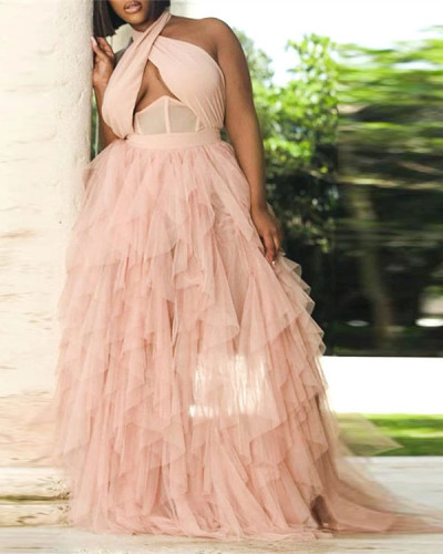Net yarn dress palace corset wedding dress