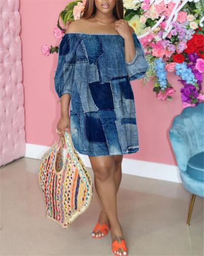 Loose fashion off-the-shoulder dress