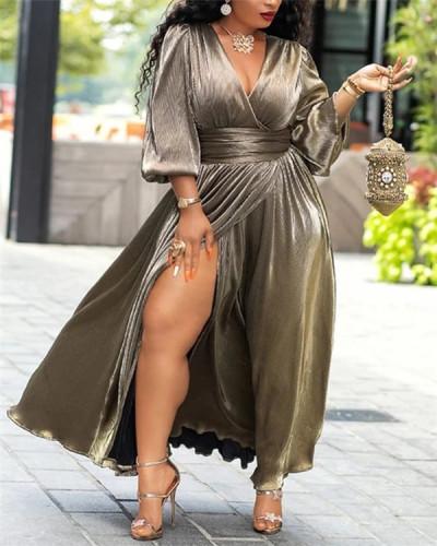 Retro mid-sleeve plus size dress