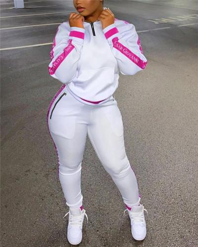 Zip-Front Sweatshirt & Jogger Pants Set
