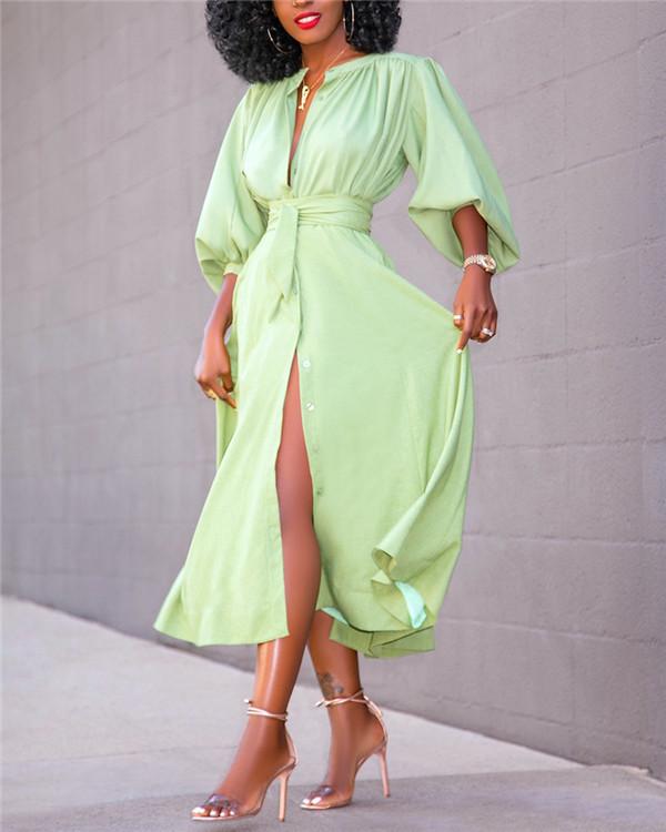 Fashion cardigan shirt dress