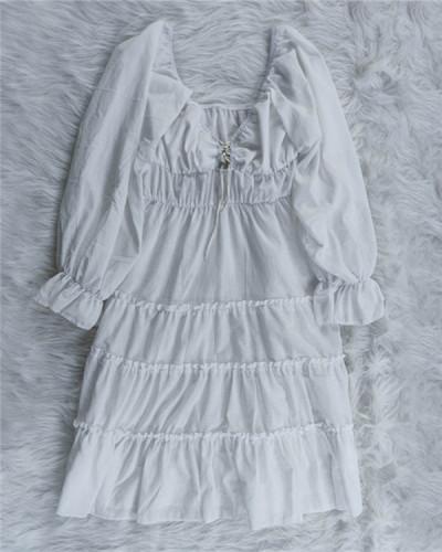 Lace-Up Ruffle Dress