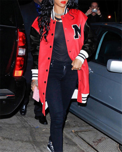 Fashion casual baseball uniform jacket
