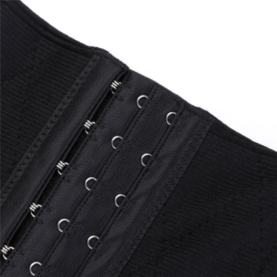 SUPER FADDISH BLACK 9 STEEL BONES LATEX WAIST TRAINER