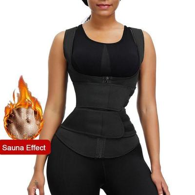 SPORTS VEST SHAPER ZIPPER DOUBLE WAIST BELT