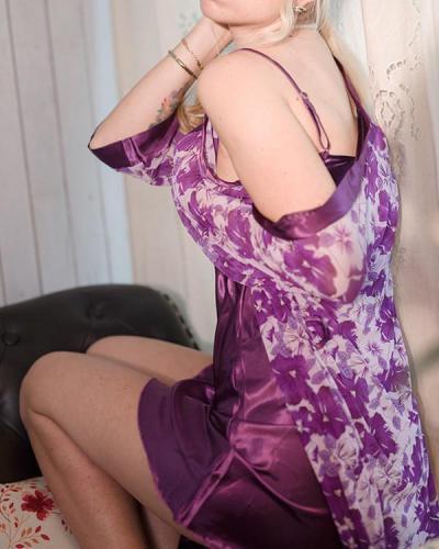 Satin Lace Trim 2PCS Flower Print Sleepwear Sets