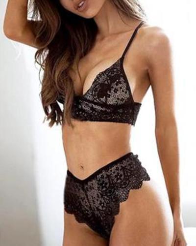 Women's Sexy Lace 2 Piece Lingerie set