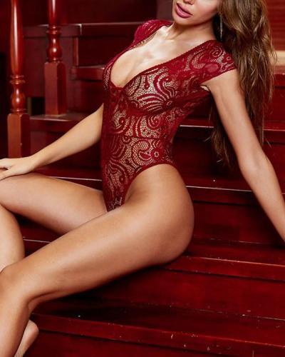 Net My Affection Teddy Floral Lace Teddy Bodysuit