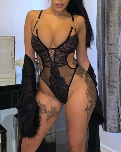 Alluring Low Cut Teddy Sexy Lingerie
