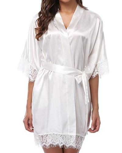 Fashionable sexy ice silk pajamas nightdress ladies pajamas