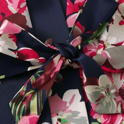 Satin Lace Trim 3PCS Sleepwear Sets Lingerie
