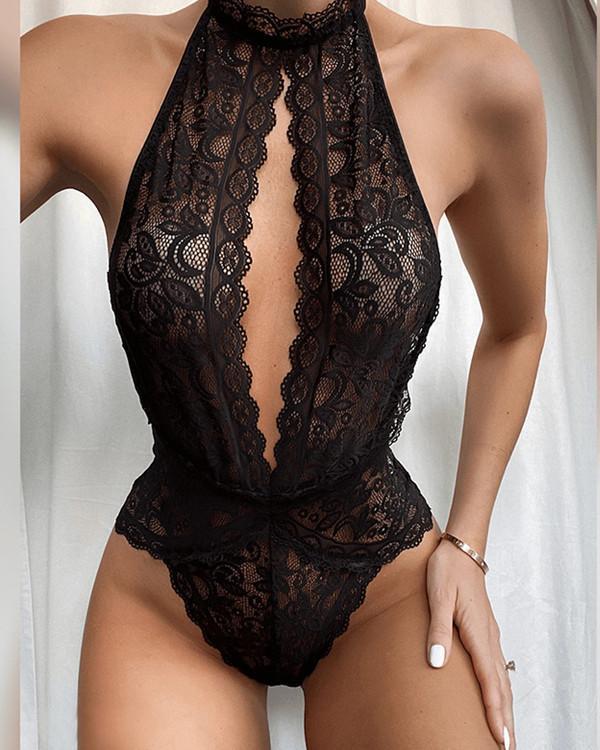 Women sexy Lace Lingerie Catsuit Lingerie Nightwear