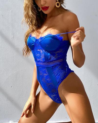 Women Sexy Lace Lingerie Bodysuit