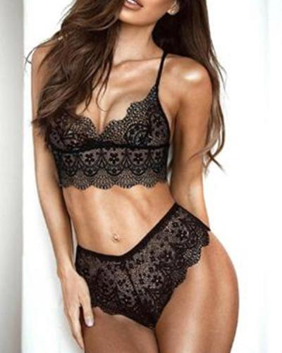 Women's Sexy Lace 2 Piece Lingerie set