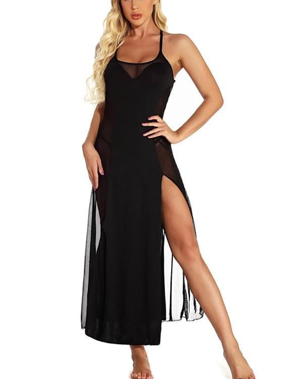 Women's Lace / Mesh / Split Suits Nightwear