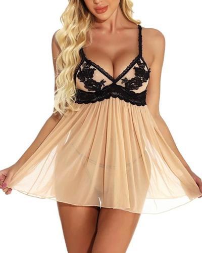 Women's Lace / Backless / Mesh Suits Nightwear