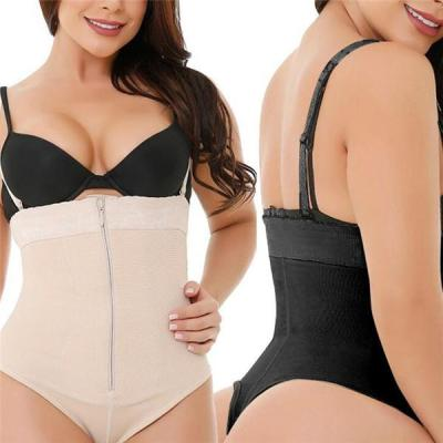 PLUS SIZE HIGH WAIST T-SHAPED FIRM ZIPPER GIRDLE PANTY