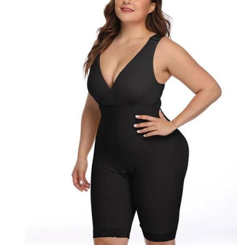 ZIP AND HOOK VEST BODYSUIT SHAPER