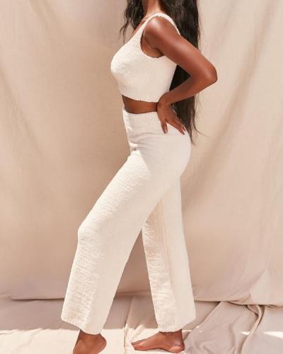 Super Soft Knit Pajamas Homewear Vest+Pants
