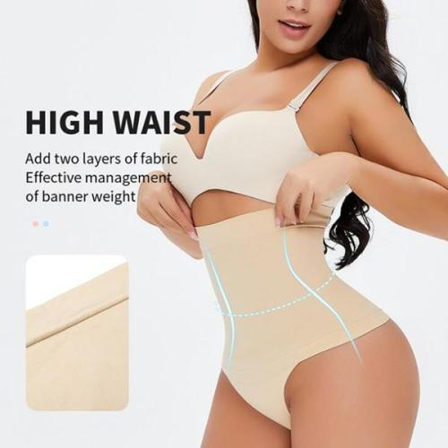 New Comfortable High Waist Control Thong Panty Shapewear