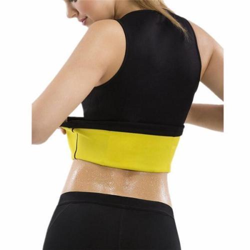Women Waist Trainer Vest Tops Double Zips