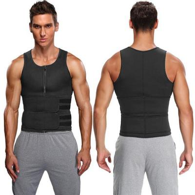 Men Body Shaper Sauna Vest Waist Trainer Double Belt