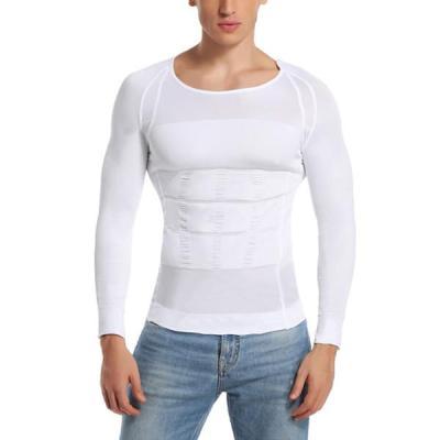 Men Body Shaper Slimming Shapewear Slim Corset Sleeve Top